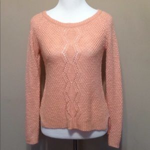 Pink Rose Knit Sweater